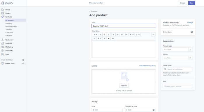 How to upload products to Shopify