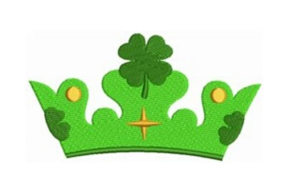 Clover Crown St Patrick's Day Embroidery Design By designsbymira