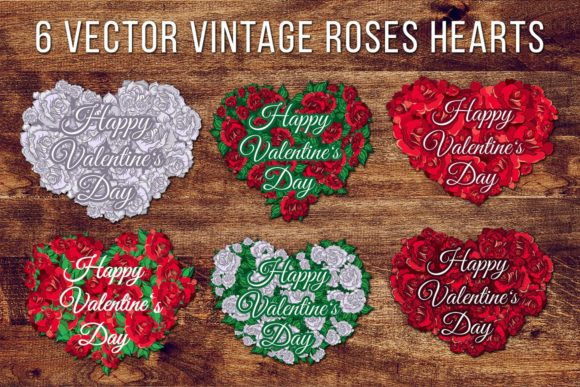 Download Free Valentine S Day Roses Hearts Graphic By Barsrsind Creative Fabrica for Cricut Explore, Silhouette and other cutting machines.