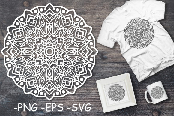 Download Free Vector Mandala Art Decoration Elements Graphic By Azrielmch for Cricut Explore, Silhouette and other cutting machines.