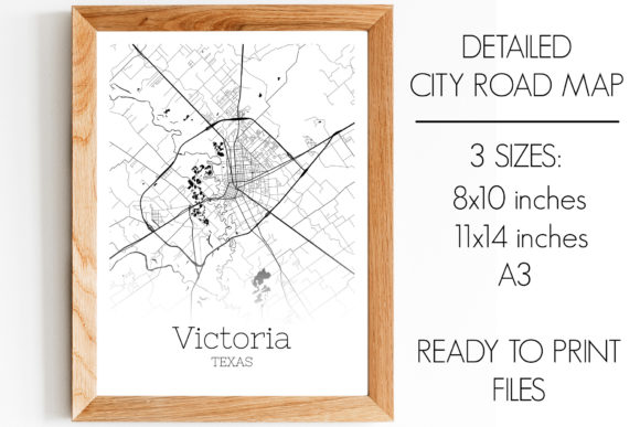 Print on Demand: Victoria Texas City Map Graphic Photos By SVGExpress