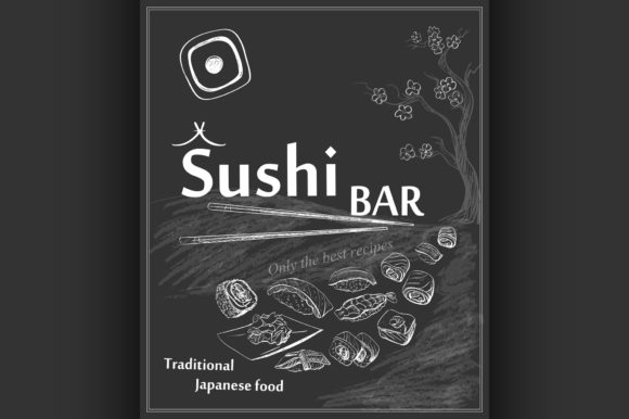 Download Free Vintage Poster For Japanese Restaurant Graphic By Netkov1 for Cricut Explore, Silhouette and other cutting machines.