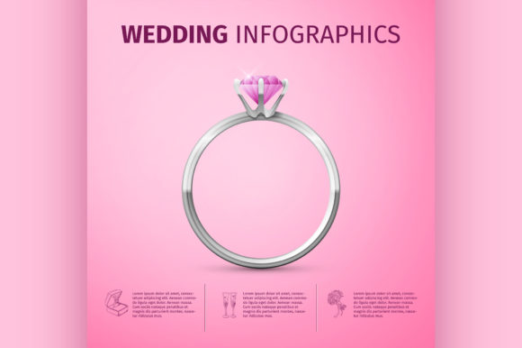 Wedding Infographics Graphic Illustrations By netkov1