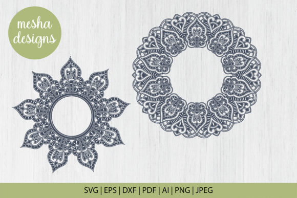 Wedding Mandala Monogram Cut File Graphic