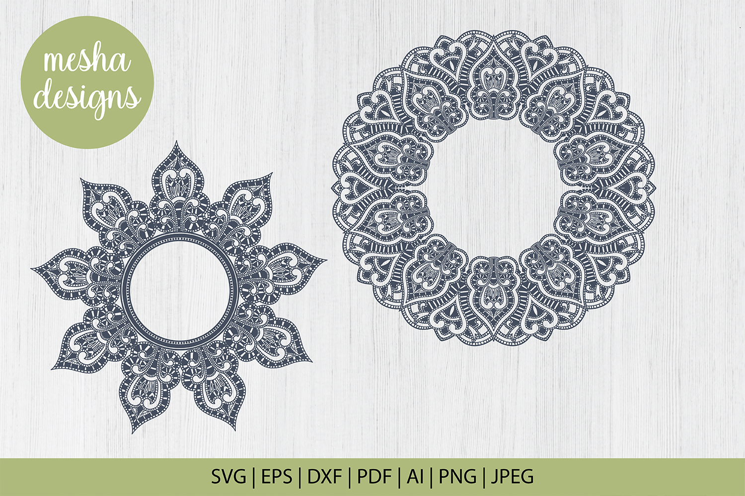 Wedding Mandala Monogram Cut File Graphic By Diycuttingfiles