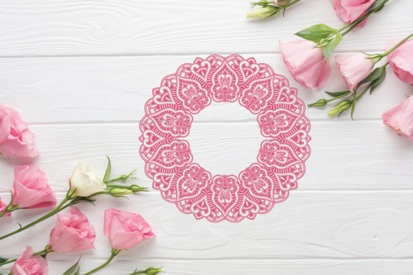 Wedding Mandala Monogram Cut File Graphic Download