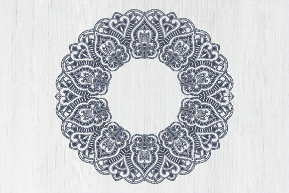 Wedding Mandala Monogram Cut File Graphic Preview