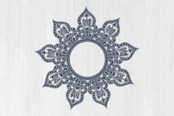Wedding Mandala Monogram Cut File Graphic Image