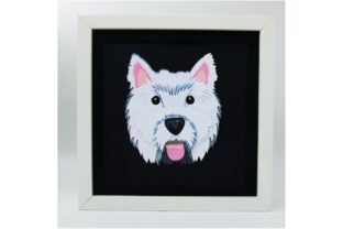 West Highland Terrier Graphic 3D Shapes By Kiyoni