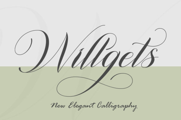 Print on Demand: Willgets Script & Handwritten Font By softcreative50