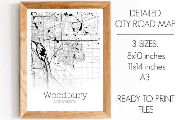 Print on Demand: Woodbury Minnesota City Map Graphic Photos By SVGExpress