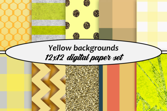 Download Free Yellow Backgrounds Digital Paper Set Graphic By A Design In Time for Cricut Explore, Silhouette and other cutting machines.