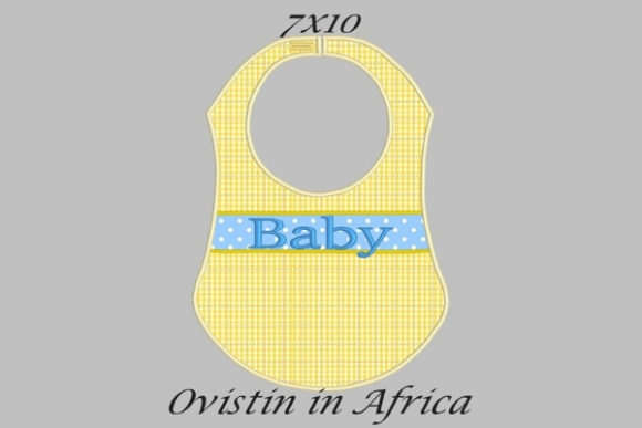 Yellow Cute Adorable Baby Bib Small Nursery Embroidery Design By Ovistin in Africa