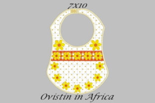 Yellow Flowers Adorable Baby Bib Small Nursery Embroidery Design By Ovistin in Africa