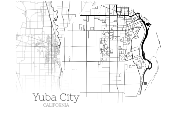 Download Free Yuba City California City Map Graphic By Svgexpress Creative for Cricut Explore, Silhouette and other cutting machines.