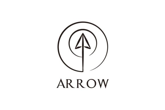 Download Free Abstract Arrow Logo Design Graphic By Artpray Creative Fabrica for Cricut Explore, Silhouette and other cutting machines.