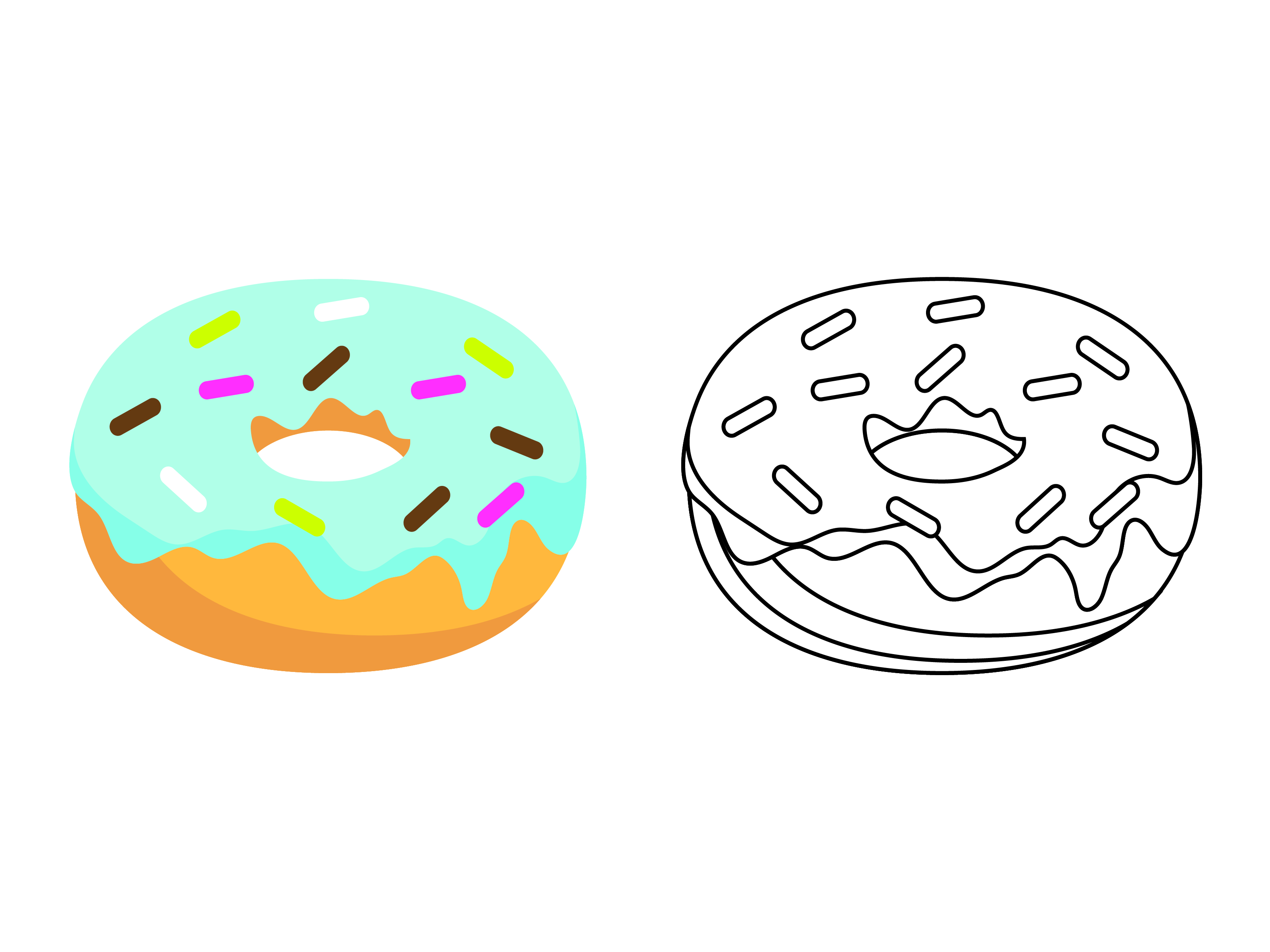 Download Free Blue Donuts Kids Coloring Vector Design Graphic By 1tokosepatu for Cricut Explore, Silhouette and other cutting machines.