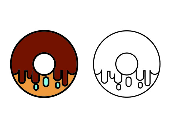 Download Free Brown Chocolate Donuts Kids Coloring Graphic By 1tokosepatu for Cricut Explore, Silhouette and other cutting machines.