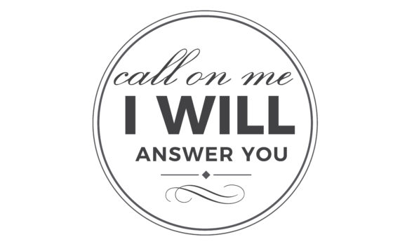 Download Free Call On Me I Will Answer You Graphic By Baraeiji Creative Fabrica for Cricut Explore, Silhouette and other cutting machines.