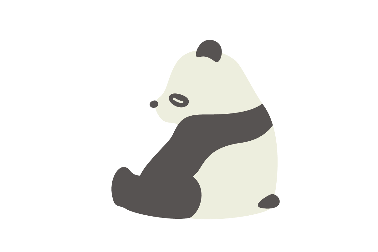 Download Free Cute Panda Animal Vector Graphic By Sasongkoanis Creative Fabrica for Cricut Explore, Silhouette and other cutting machines.
