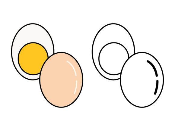 Download Free Egg Kids Coloring Vector Design Graphic By 1tokosepatu Creative Fabrica for Cricut Explore, Silhouette and other cutting machines.