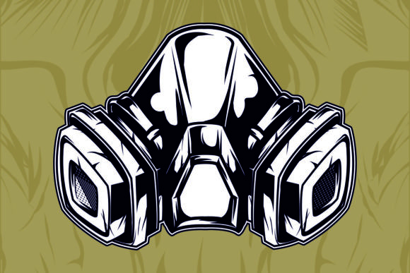 Download Free Gas Mask Graphic By Epic Graphic Creative Fabrica for Cricut Explore, Silhouette and other cutting machines.