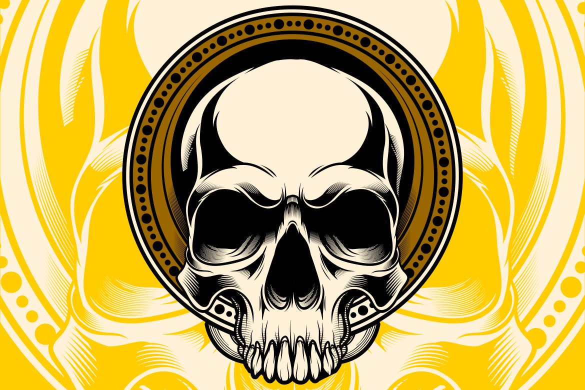 Download Free Head Skull Graphic By Epic Graphic Creative Fabrica for Cricut Explore, Silhouette and other cutting machines.