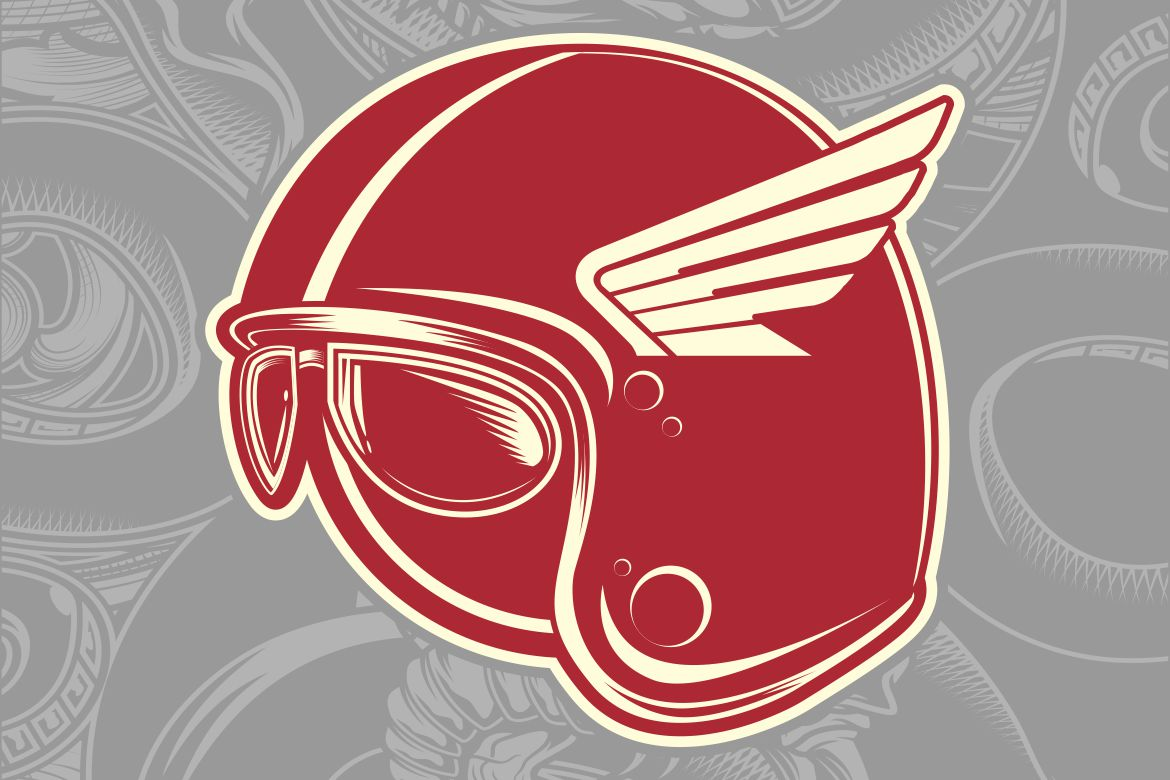 Download Free Helmet Cafe Racer Graphic By Epic Graphic Creative Fabrica for Cricut Explore, Silhouette and other cutting machines.