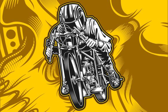 Download Free Motorcycle Racing Graphic By Epic Graphic Creative Fabrica for Cricut Explore, Silhouette and other cutting machines.