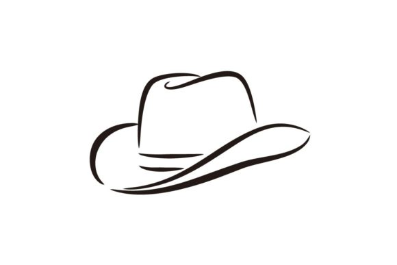 Download Free Sheriff Or Cowboy Hat Western Graphic By Artpray Creative Fabrica for Cricut Explore, Silhouette and other cutting machines.