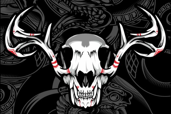 Skull Deer Graphic By Epic Graphic Creative Fabrica