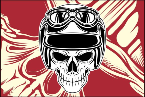 Download Free Skull Helmet Graphic By Epic Graphic Creative Fabrica for Cricut Explore, Silhouette and other cutting machines.