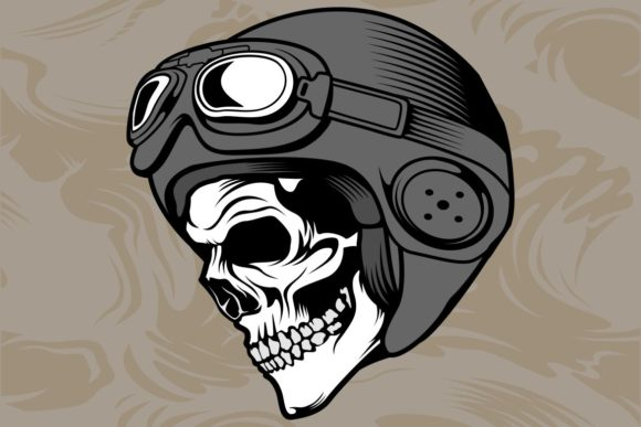 Skull Helmet Graphic Illustrations By Epic.Graphic