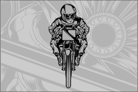 Download Free Skull Motorcycle Racing Graphic By Epic Graphic Creative Fabrica for Cricut Explore, Silhouette and other cutting machines.
