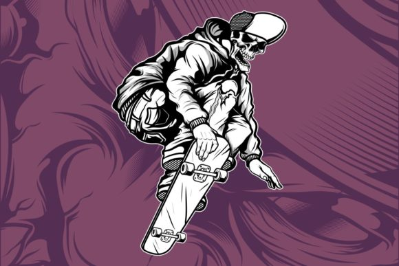 Skull Skateboard Graphic Illustrations By Epic.Graphic