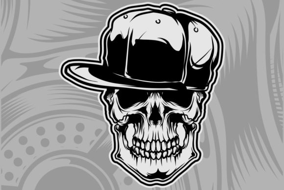 Download Free Skull Wearing Cap Vector Graphic By Epic Graphic Creative Fabrica for Cricut Explore, Silhouette and other cutting machines.