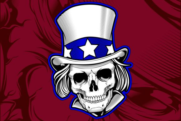 Download Free Skull Wearing Hat Graphic By Epic Graphic Creative Fabrica for Cricut Explore, Silhouette and other cutting machines.