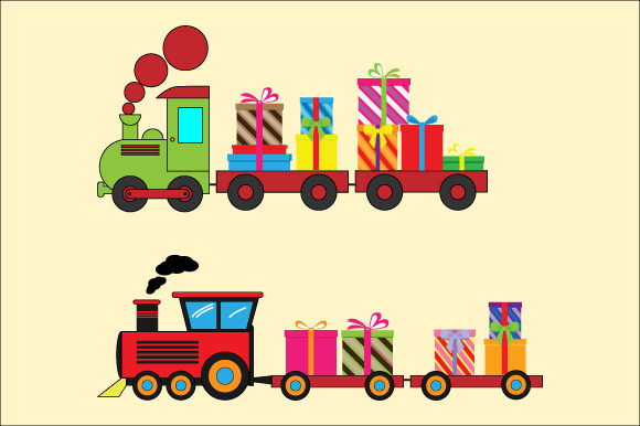 Print on Demand: Train and Gift Graphic Illustrations By curutdesign