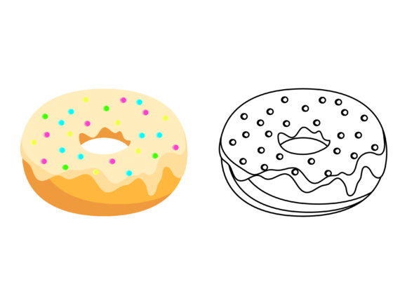 Download Free Vanilla Donuts Kids Coloring Design Graphic By 1tokosepatu for Cricut Explore, Silhouette and other cutting machines.