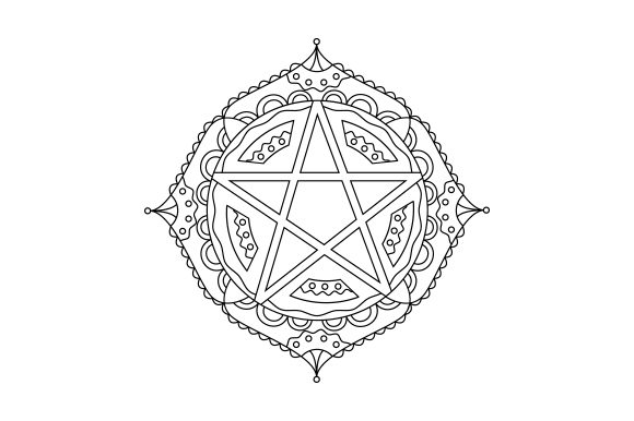 Download Free Pentagram Mandala Svg Cut File By Creative Fabrica Crafts for Cricut Explore, Silhouette and other cutting machines.