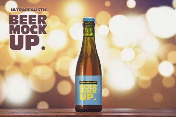 Download Free 375ml Blurred Lights Beer Mockup Graphic By Smartdesigns for Cricut Explore, Silhouette and other cutting machines.