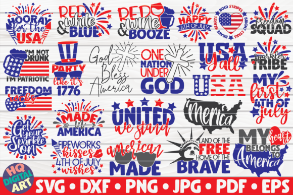4th Of July Bundle 23 Designs Graphic By Mihaibadea95