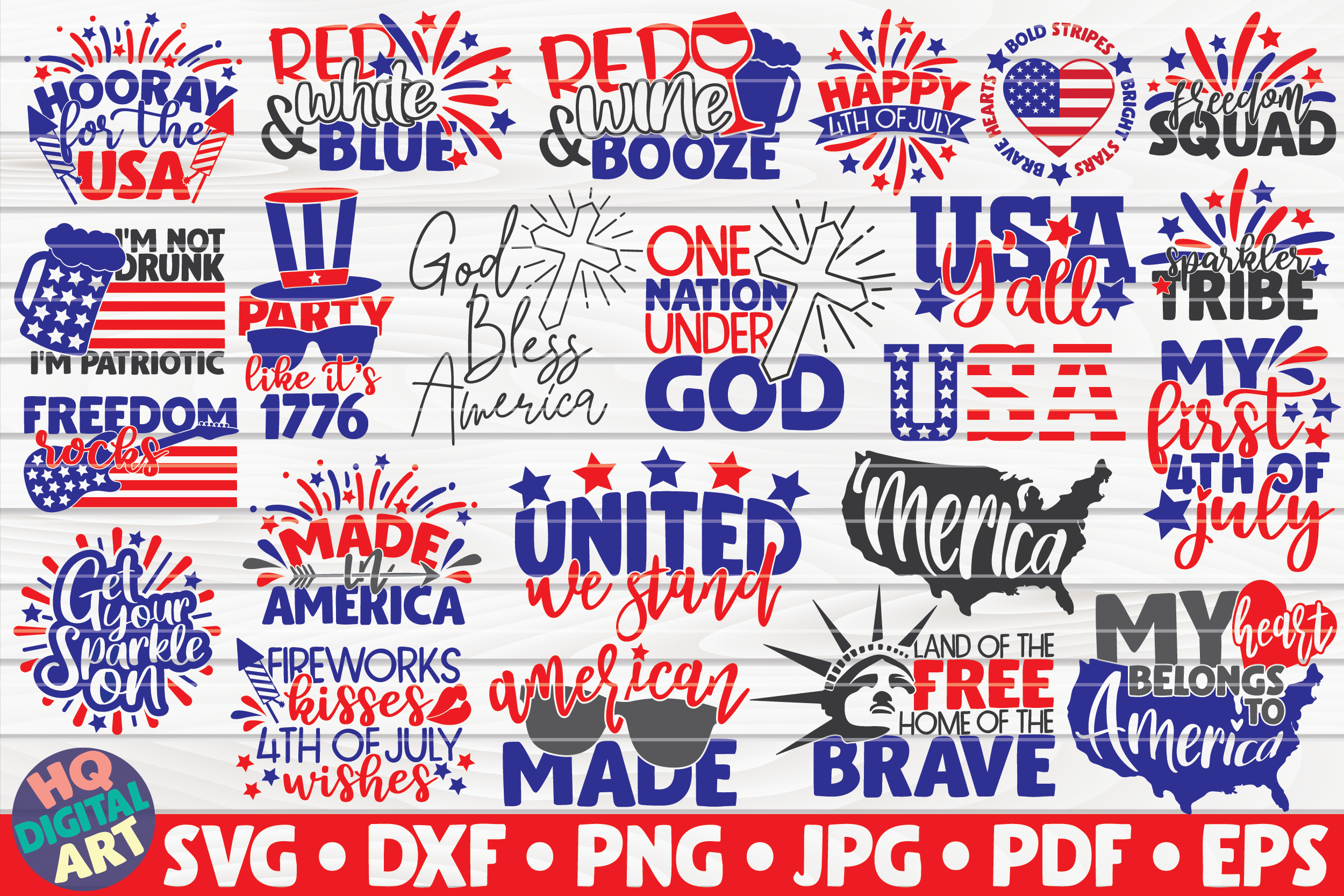 Download Free 4th Of July Bundle 23 Designs Graphic By Mihaibadea95 for Cricut Explore, Silhouette and other cutting machines.