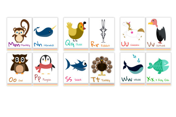 Alphabet Flash Cards for Kids Graphic Teaching Materials By Igraphic Studio - Image 2