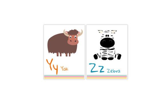 Download Free Alphabet Flash Cards For Kids Graphic By Igraphic Studio for Cricut Explore, Silhouette and other cutting machines.
