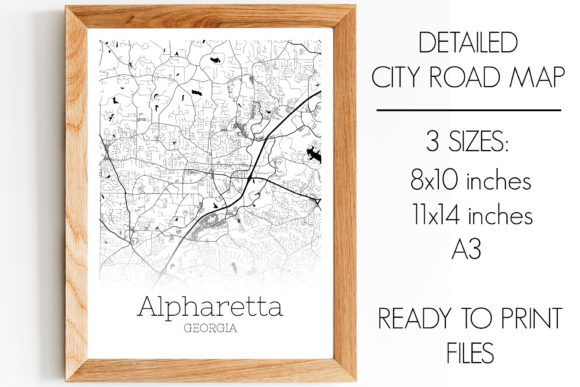 Print on Demand: Alpharetta Georgia City Map Graphic Photos By SVGExpress
