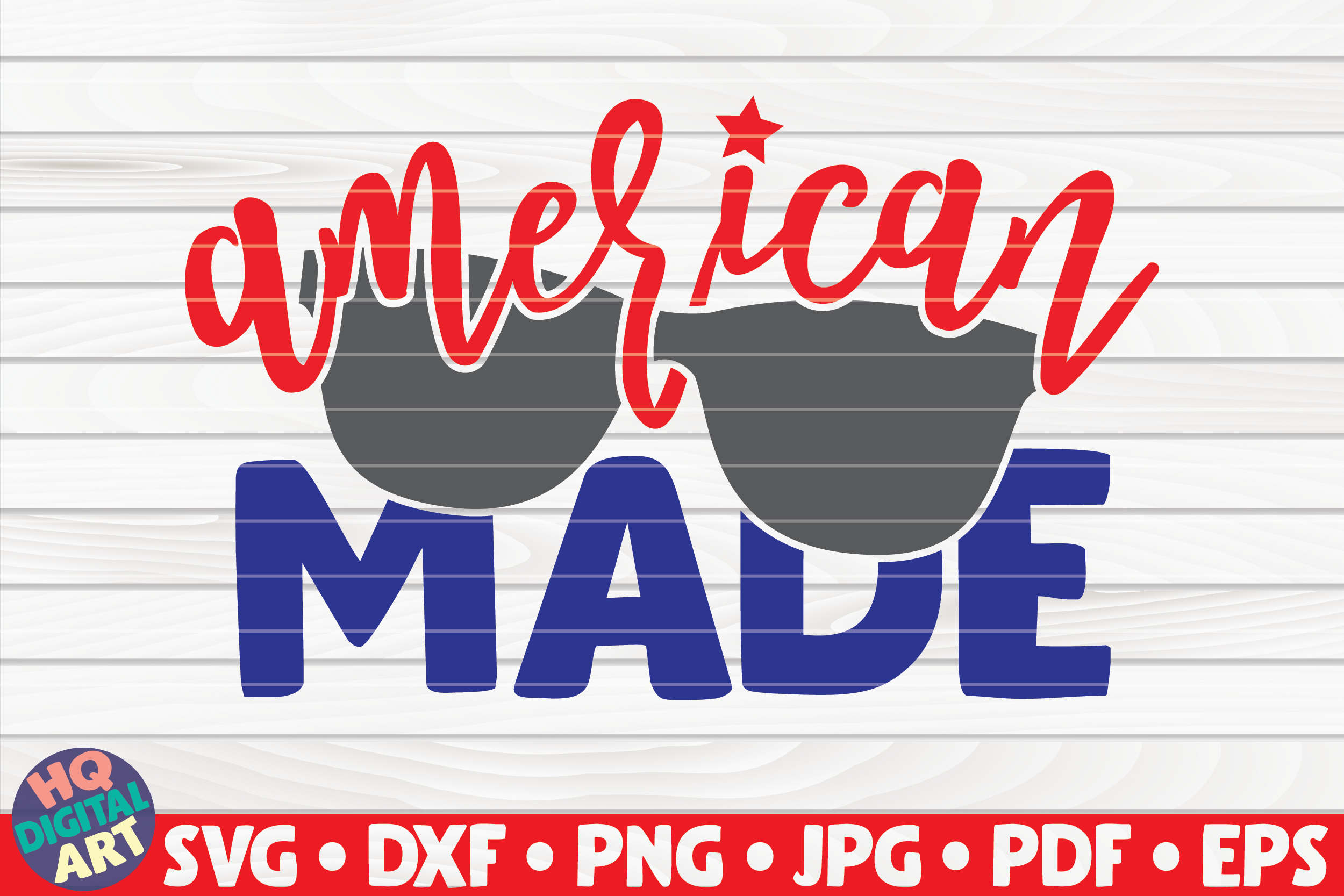 Download Free American Made 4th Of July Quote Graphic By Mihaibadea95 for Cricut Explore, Silhouette and other cutting machines.