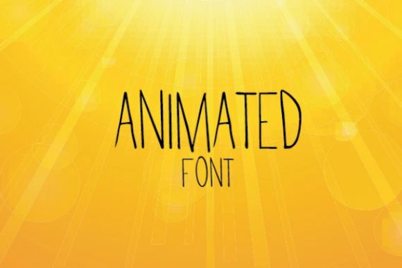 Print on Demand: Animated Sans Serif Font By carina2