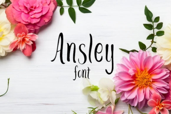 Print on Demand: Ansley Script & Handwritten Font By carina2