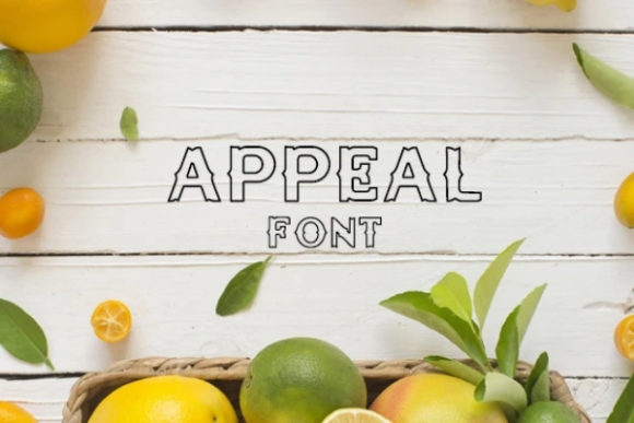 Print on Demand: Appeal Display Font By carina2